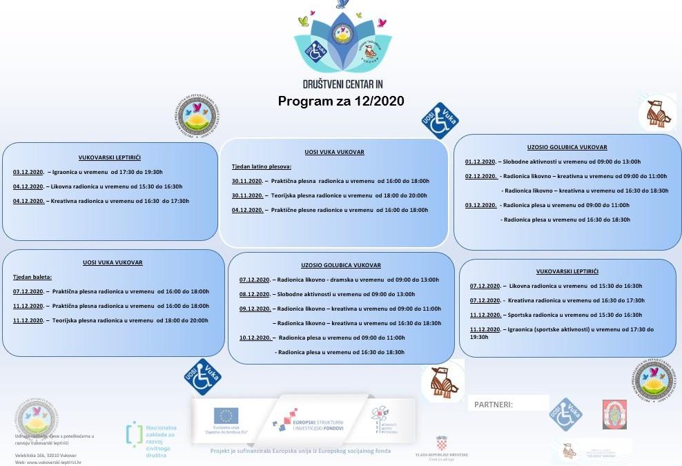 Društveni centar IN | Kalendar događaja